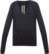 Rick Owens V-neck Wool Sweater - Womens - Black