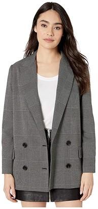 AllSaints Helei Check Blazer (Charcoal Grey) Women's Clothing