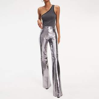Tommy Hilfiger Zendaya Metallic Leather Bootcut Trousers