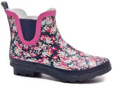 Jumiti JUMITI Women's Cold Weather Boots red - Navy & Pink Floral Short Rain Boot - Women
