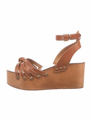 Etoile Isabel Marant Leather Studded Accents Sandals Brown