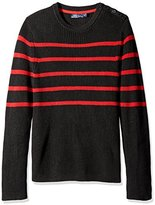 Nautica Men's Breton Stripe Crew-Neck Sweater