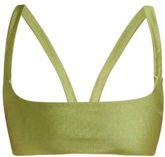 JADE SWIM Revel Square-neck Bikini Top - Womens - Green