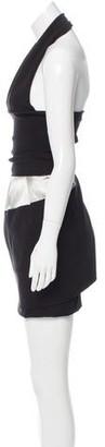 Preen by Thornton Bregazzi Preen Halter Knee-Length Dress w/ Tags Black Preen Halter Knee-Length Dress w/ Tags
