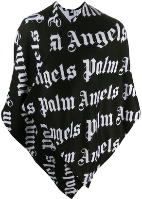 Palm Angels Logo Knitted Cape