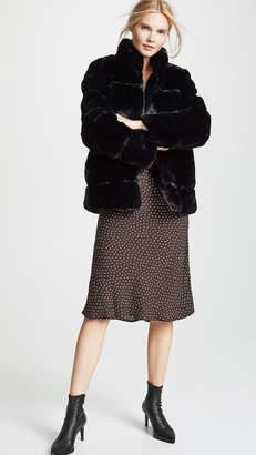 Apparis Sarah Quilted Faux Fur Coat