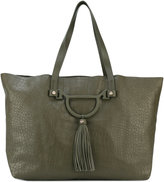 Borbonese croc-effect tote