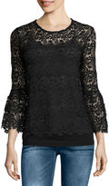 i jeans by Buffalo Bell Sleeve Lace Top