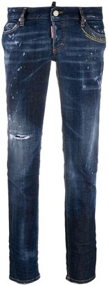 DSQUARED2 Stonewashed Bootcut Jeans