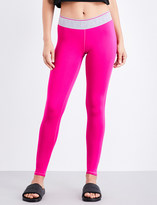 Ivy Park Ladies Fushia Breathable Logo Waistband Stretch-Jersey Leggings