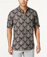 Tasso Elba Men's Silk & Linen Pineapple Shirt, Created for Macy's