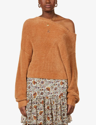 Free People Star Sign off-the-shoulder knitted jumper