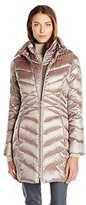 Ellen Tracy Outerwear Women's Mixed Quilting Packable Down Jacket