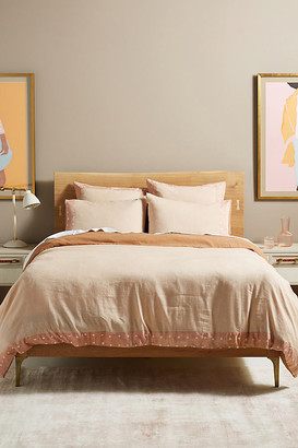 Anthropologie Flower-Dyed Alisha Duvet Set By in Pink Size Twin Set