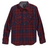 Vans Boy's Monterey Ii Plaid Flannel Shirt