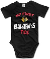 Julia Dickens Chicago hawks My First Tee Infant Baby Onesie Creeper