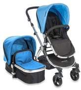 babyroues letour II Bassinet and Stroller Frosted Silver Frame System in Blue
