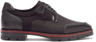Christian Louboutin Simon Leather-trimmed Technical Derby Shoes - Black