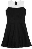 Aqua Girls' Color Block Mesh Dress, Big Kid - 100% Exclusive