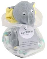 Carter's Elephant Plush Bath Toy & Washcloth Gift Set - Neutral