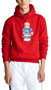 Polo Ralph Lauren Men's Big & Tall Hockey Bear Fleece Hoodie