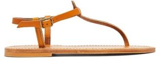 K. Jacques Picon T Bar Leather Sandals - Womens - Tan