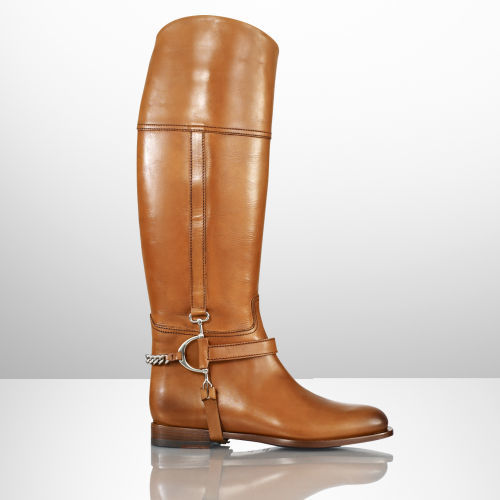 Ralph Lauren Calf Chain Sandra Riding Boot