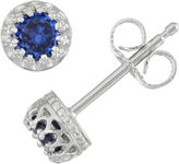 FINE JEWELRY Children's Sterling Silver Sapphire 4mm Stud Earrings