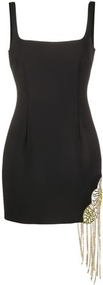 Area Crystal-Embellished Fitted Mini Dress