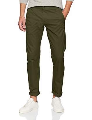 Dockers Alpha Khaki Tapered Stretch Twill Slim Trousers