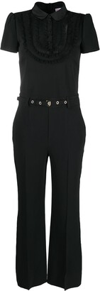 RED Valentino Ruffled Belted Jumpsuit