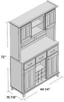Alcott Hill Sedgemoor China Cabinet Top Material: Cherry Wood,