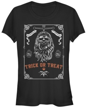 Fifth Sun Star Wars Women's Chewbacca Trick or Treat Poster Short Sleeve Tee Shirt