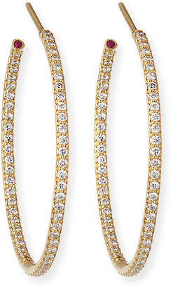 Roberto Coin 18k Extra-Large Diamond Hoop Earrings
