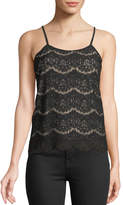 Love, Fire Scalloped Lace Camisole