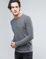 Brave Soul Mens Crew Neck Knitted Sweater with Sausage Roll Neck