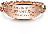 Tiffany & Co. Return to TiffanyTM oval ID ring in 18k rose gold with diamonds
