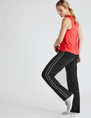 Marks and Spencer Cotton Side Stripe Straight Leg Joggers