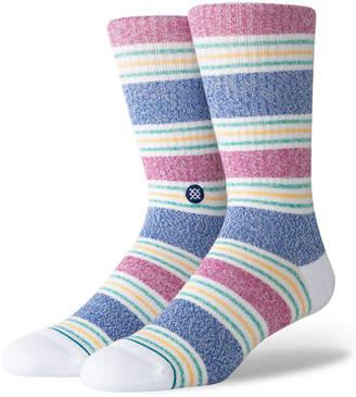Stance Men's Leslee Striped Classic Crew Socks