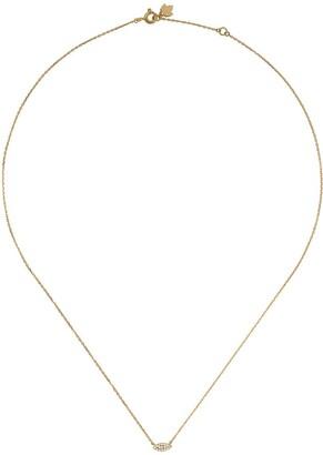 Feidt Paris 18kt Yellow Gold Diamond Eye Necklace