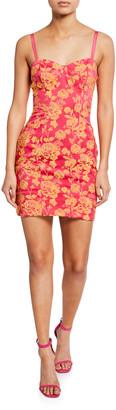 Cinq à Sept Erica Floral-Print Cutout Mini Dress