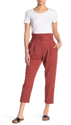 Elodie K High Waist Paperbag Belted Waist Pants