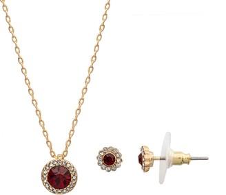 Lauren Conrad Birthstone Circular Pendant Necklace & Earrings Set