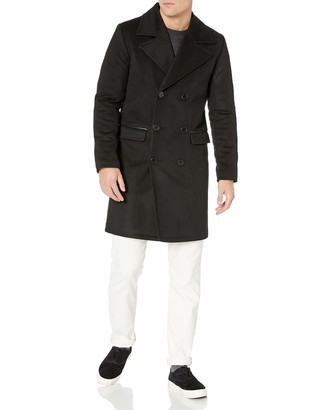 LAMARQUE Men's Langford Cashmere Blended Double Breasted Wool Jacket