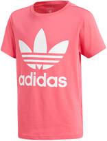 adidas Logo-Print Cotton T-Shirt, Big Girls