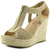 Moda Spana Whitney Open Toe Canvas Wedge Sandal.