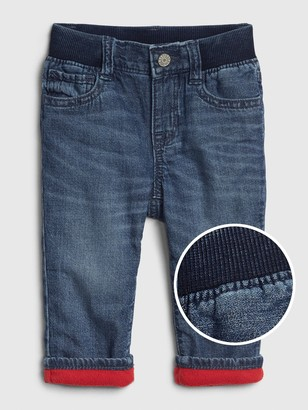 Gap Baby Fleece-Lined Straight Jeans