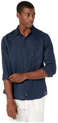 Onia Abe Shirt (Deep Navy 2) Men's Long Sleeve Button Up