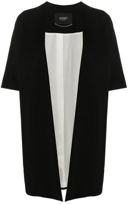 Seventy Short-sleeve Draped Cardi Coat