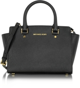 Michael Kors Selma Medium Saffiano Leather Top-Zip Satchel